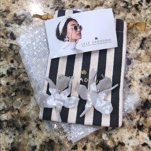 Brand new: Lele Sadoughi White Paper Lily Earrings